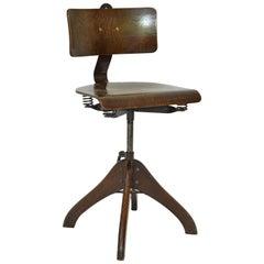 Swivel Chair by Margarete Klöber for Polstergleich, 1930s Germany, Dark Brown