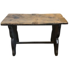 19th Century Country French Wooden Bench