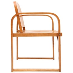 Modernist Plywood Armchair Early 20th Century by Tatra
