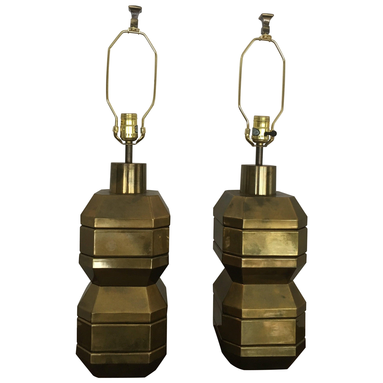 Chapman Chunky Brass Lamps