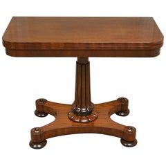 Regency Mahogany Antique Games Table