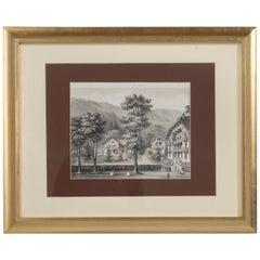 Title Vues Nouvelles or New Views, Black Forest Village Scene, circa 1800s