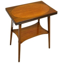 Edwardian Inlaid Antique Card Table