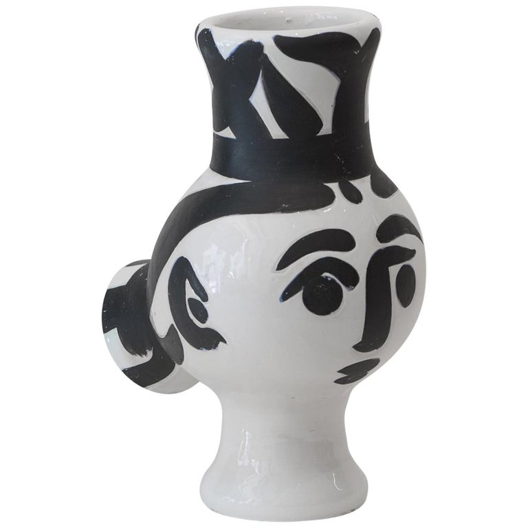 Picasso Edition Madoura Ceramic Wood Owl Woman Vase 1951 For Sale