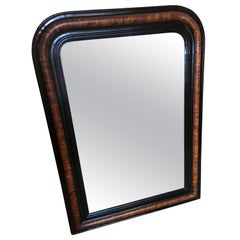 19th Century French Wooden Framed Wall Mirror, 1890s