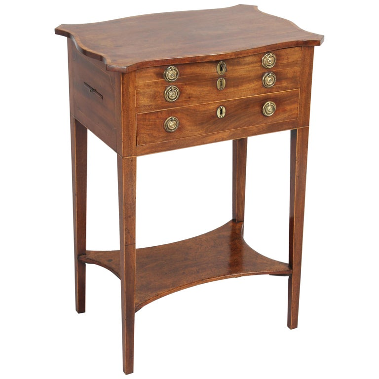 George III Period Mahogany Worktable For Sale