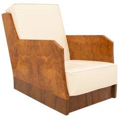Hille Art Deco Burr Elm Armchair