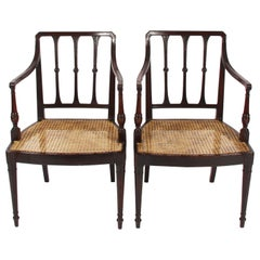 Pair of Caned Chairs