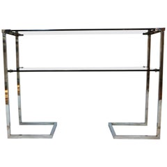 1970s Steel Chromed Console Design Desoko, Made in Italy