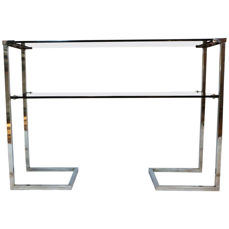1970s Steel Chromed Console Design Desoko, Made in Italy 1