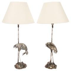 Pair of Valenti Crane Table Lamps