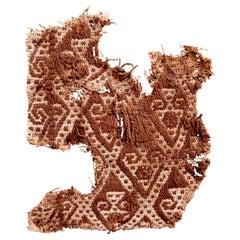 Abstract Paracas Precolumbian Textile, Peru, 1100-1400 AD, Ex Ferdinand Anton