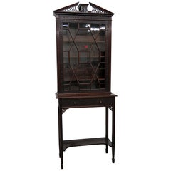 19th Century Georgian Collectors Cabinet