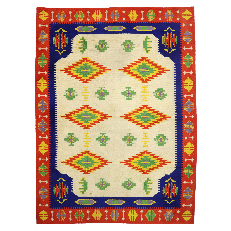 Vintage Rabat Moroccan Large Area Rug, Oversize Rug, Palace Size Carpet