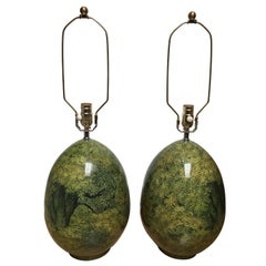 Pair of John Derian Decoupage Tree Lamps