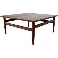 Mid-Century Modern Square Teak Coffee Table