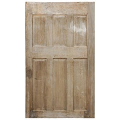 Single European 19th Century Six-Panel Wood Door