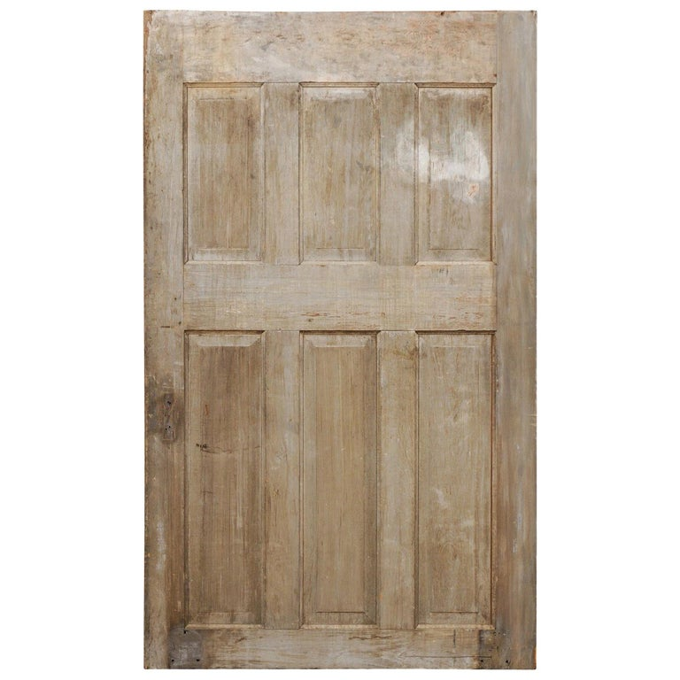 Single European 19th Century Six-Panel Wood Door For Sale