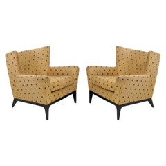 Pair of Curvaceous Modern Lounge Chairs