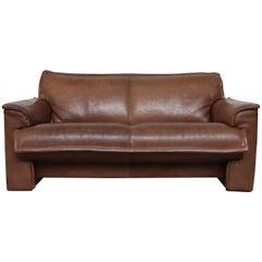 Leolux Buffalo Leather Loveseat Sofa