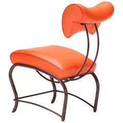 Elbert Chair Times Sq. Variation, Leather and Steel, by Jordan Mozer, 1988-2006