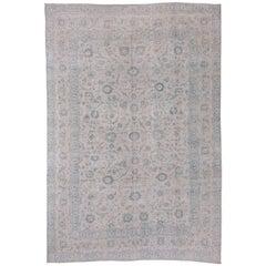 Soft Palette Antique Tabriz Carpet