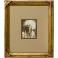 Edward S. Curtis Signed Photograph of Apsaroke Indian Chief