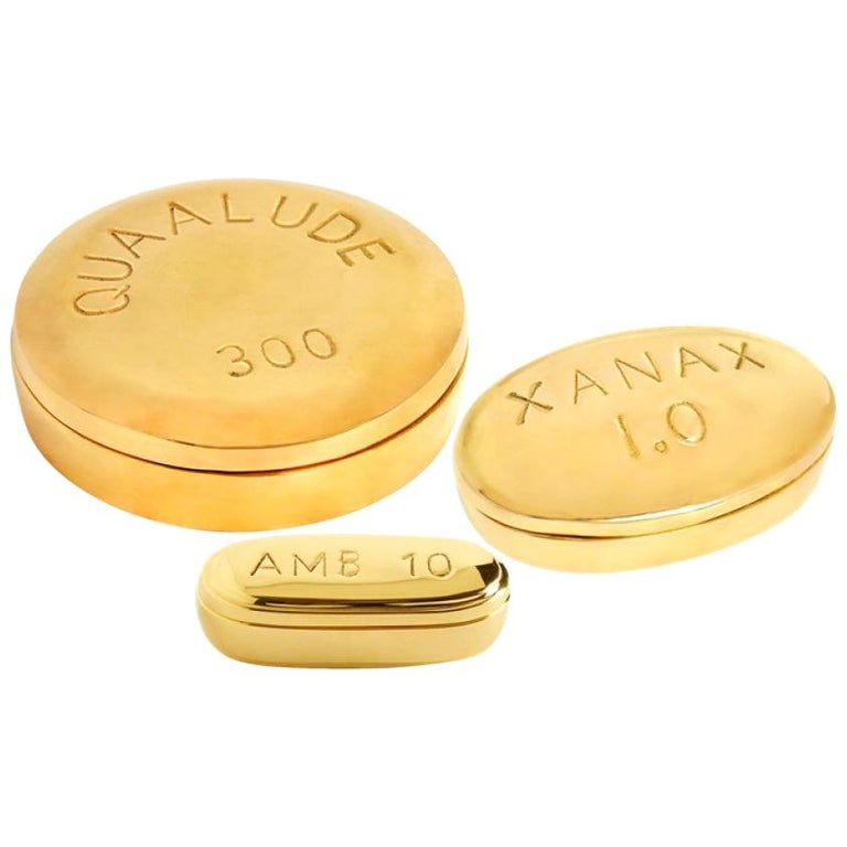 Brass Pill Box Set For Sale