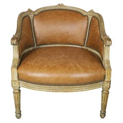 Petite French Louis XVI Style Painted Armchair, circa 1940s