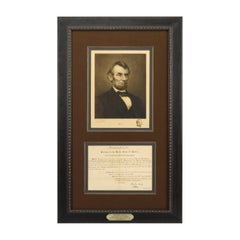 1861 Abraham Lincoln Signed Presidential Appointment with 1905 Jacques Reich Etc