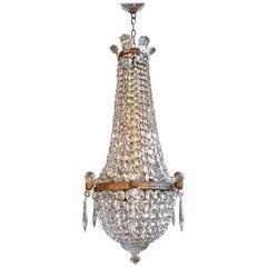 Montgolfièr Empire Sac a Pearl Chandelier Crystal Lustre Ceiling Lamp Basket