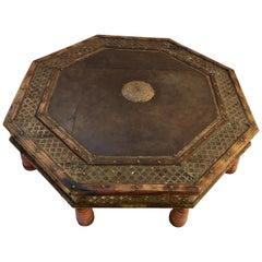 Anglo Raj Octagonal Low Coffee Table with Moorish Design