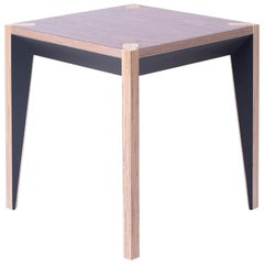 Walnut Black MiMi Side Table by Miduny, Made in Italy