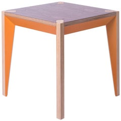 Walnut Orange Side Table by Miduny, Made in Italy