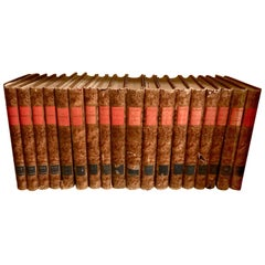 "Set of 25 French Leather Bound Volumes Containing ""L'illustration"", 1910-1922"