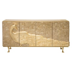 Koket Camilia Cabinet in Mother of Pearl in Ivory