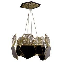 Koket Hypnotic Chandelier in Polished Brass