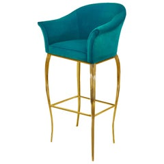 Koket Mimi Bar Stool in Velvet
