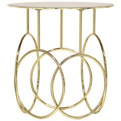 Koket Kiki Side Table in Tempered Bronze Glass Top