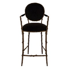 Koket Enchanted Bar Stool in Velvet