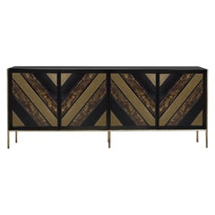Koket Opium Cabinet in Black Lacquer with High Gloss Finish