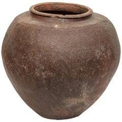 Large Vintage Storage or Water Jar from Borneo, Unglazed, Mid-20th Century