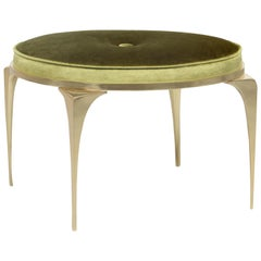 Koket Rita Stool in Velvet and Polished Brass
