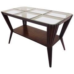 Osvaldo Borsani Style Elegant Coffee Table, Late 1940