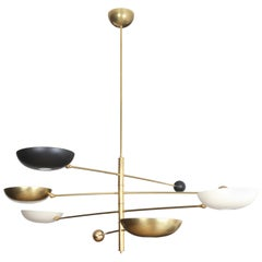 Contrapesi Midcentury Style Brass and Powder-Coated Cup Pendant (US Spec)