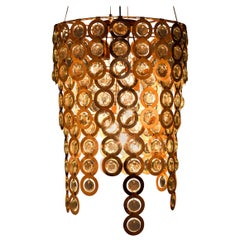 Contemporary Copper and Glass Surlight Modular Chandelier by Egg Designs