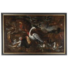 Very Chic Large Painting by Pietro Neri Scacciati