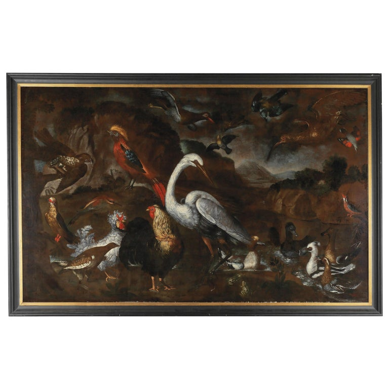Very Chic Large Painting by Pietro Neri Scacciati For Sale