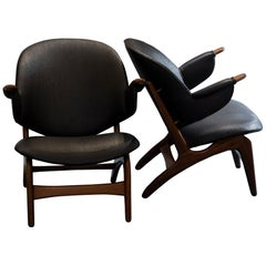 Pair of Teak Armchairs Attributed To Arne H. Olsen, Denmark, 1959