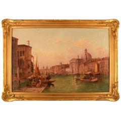 Alfred Pollentine Guidecca Canale, Venice, Oil on Canvas